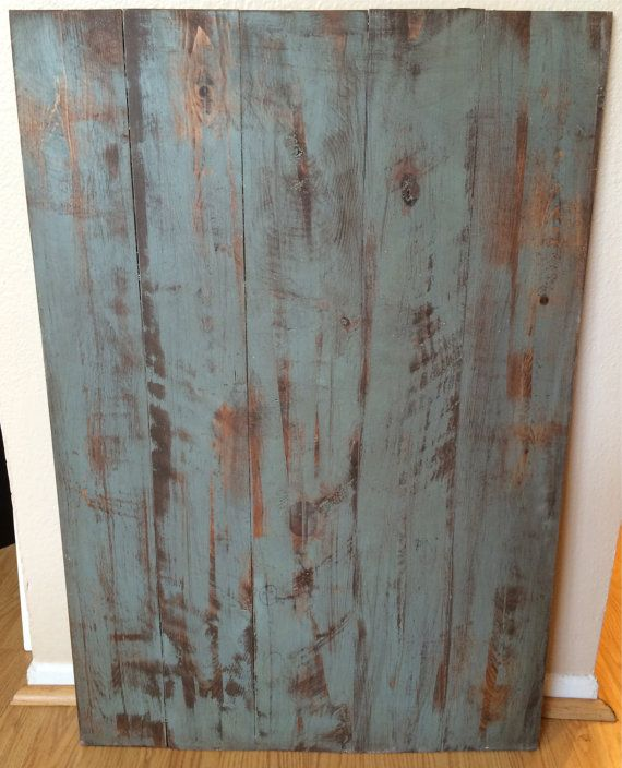 """Double Sided Distressed Turquoise Photography Background (24""""x34"""")"""