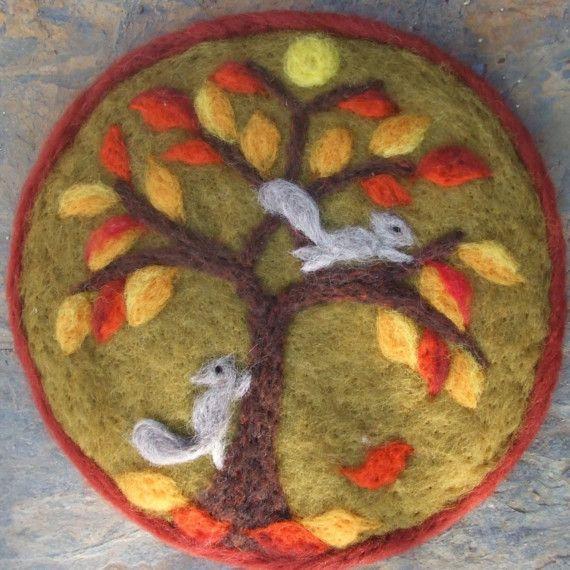 Fall Squirrel Play van Wonderwul op Etsy