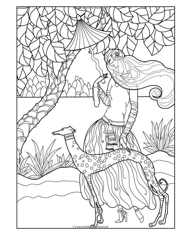 Amazon Adult Coloring Book Vintage Series The Masters Of Fashion