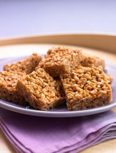 #BiggestLoser #Recipe Crispy Peanut Butter Squares