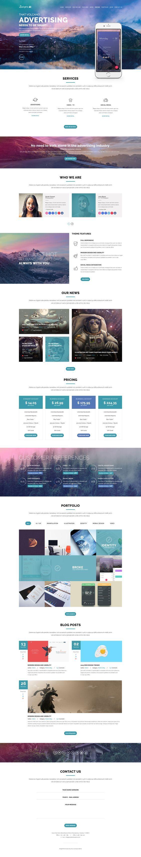 Luispro - Flat & User Friendly Landing Page Design: