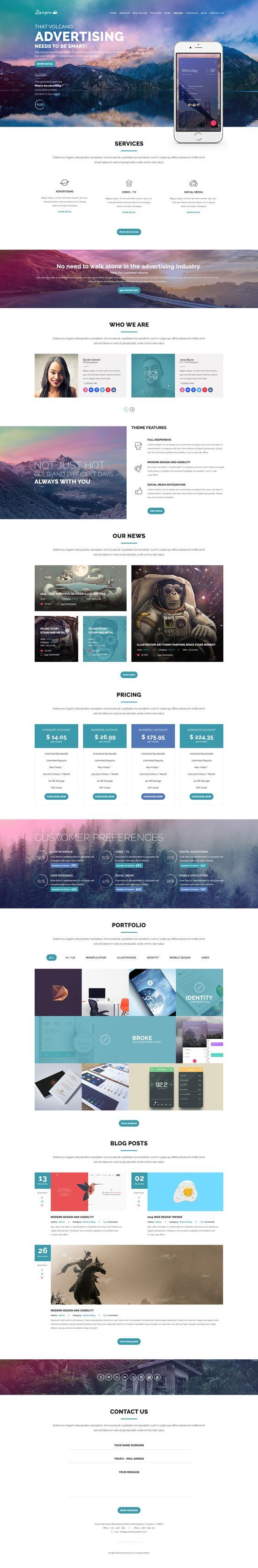 Luispro - Flat & User Friendly Landing Page Design: