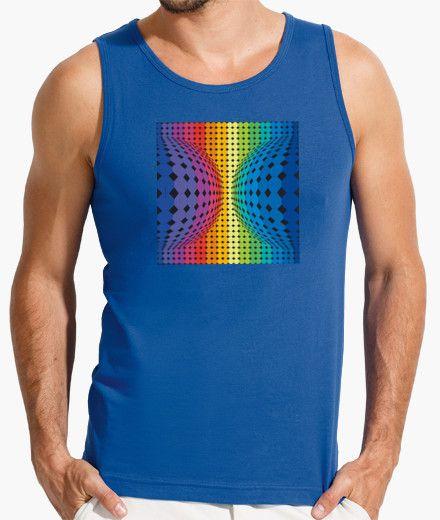 Camisetas de tirantes geometrias Hombre, sin mangas, azul royal
