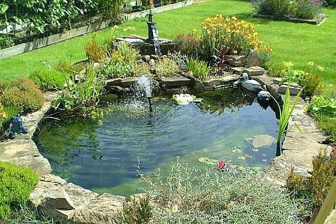Pool and patio decorating ideas on a budget pool for Small garden with pond design