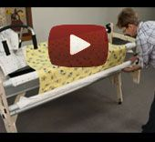 Grace Co. wood machine quilting frame fabric install video