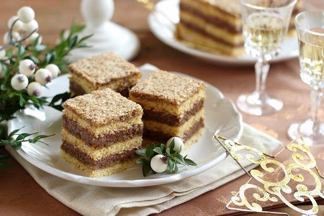 Juditka konyhája: Dióhabos csokoládékrémes kocka