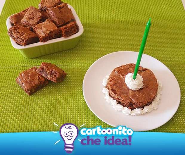 BROWNIES  #CartoonitoCheIdea #Cartoonito #brownies #food #dolci #ricette #merenda #kids #genitori #bambini