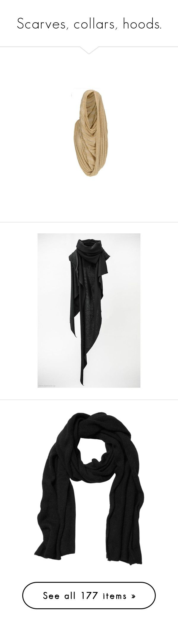 """Scarves, collars, hoods."" by morbid-octobur ❤ liked on Polyvore featuring accessories, scarves, hats, hoods, missoni, cachecol, bufandas, lenços, black magic and woven scarves"