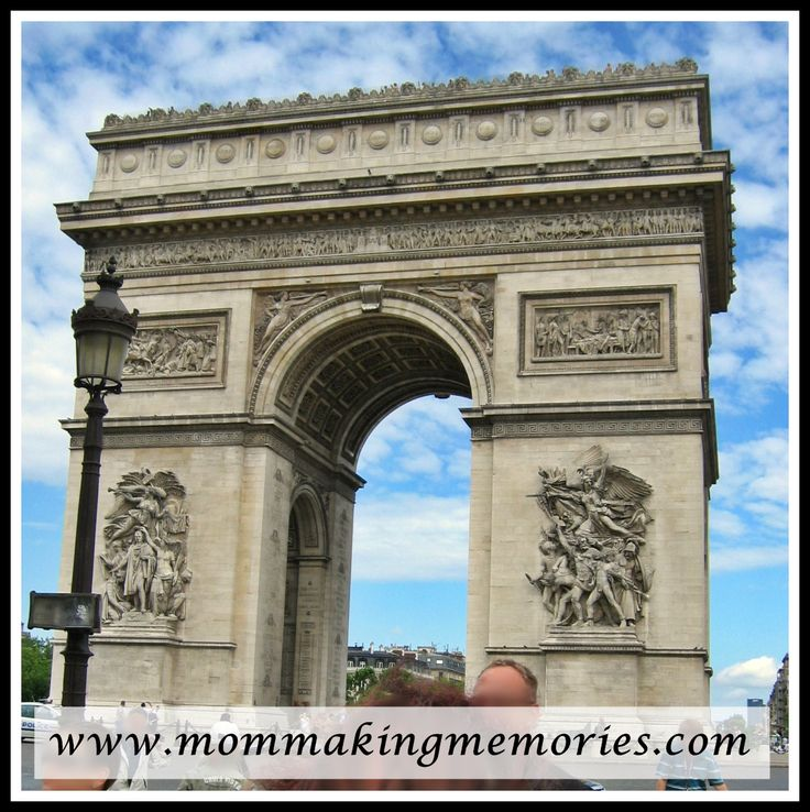 Our first view of the Arc de Triomphe in Paris