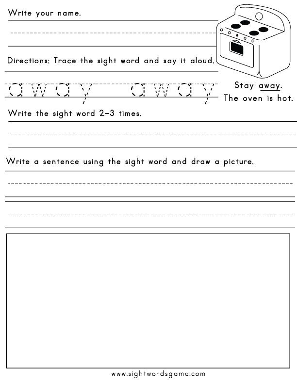 Pin by Bookworm on Sight Word
