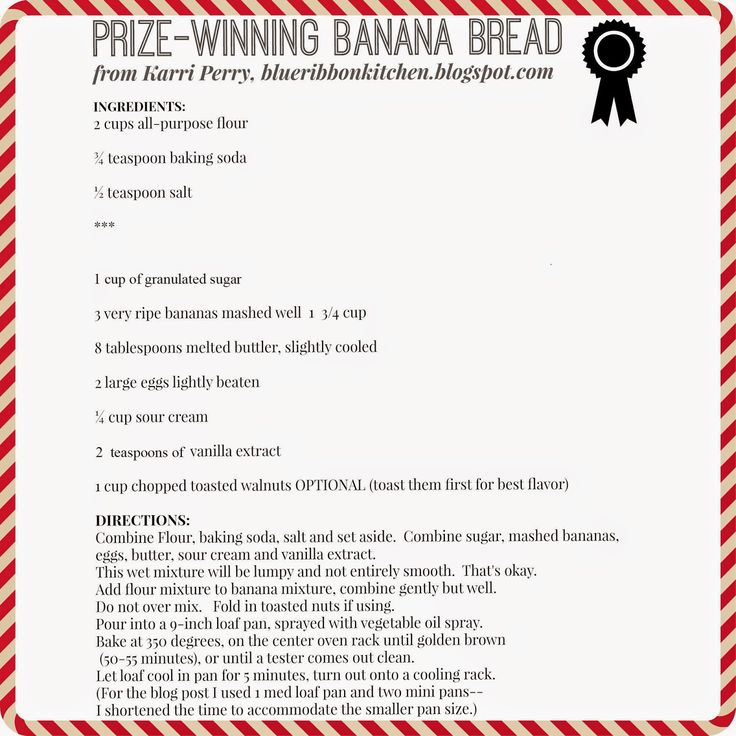 Blue Ribbon Kitchen: Prize-Winning Banana Bread - swapped out sour cream for vanilla greek yogurt