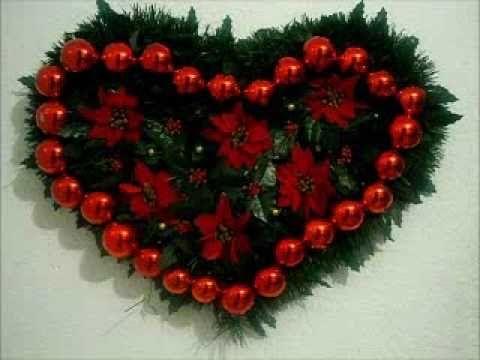 Corona navideña de corazón!!