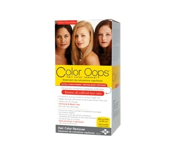 Color Oops Extra Conditioning for damaged hair is a gentle and safe way to remove permanent and semi-permanent hair color in only 20 minutes! Ammonia-free, bleach-free, Color Oops corrects hair color by shrinking the colour molecules, allowing you to simply wash them away.
