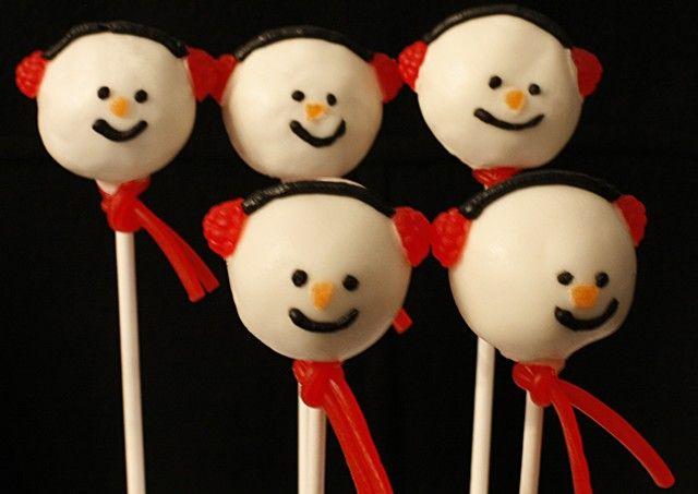 Snowmen cakepops