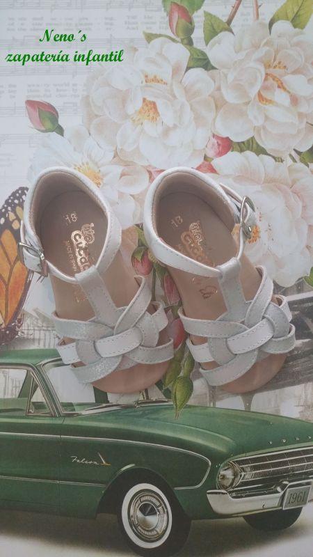 Sandalias Cucada cristal plata