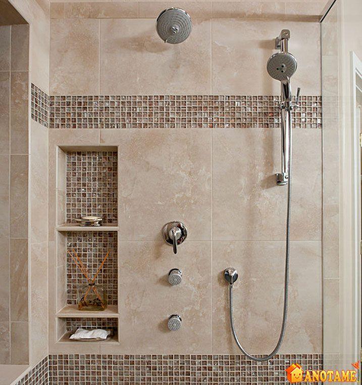 Shower Tile Ideas for Beautiful Bathroom : Beautiful Shower Tile Ideas Glass Cover Shower Metalic Shower