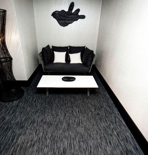 Chilewich Custom Wall To Wall Flooring In Rib Weave Black Adds A Stunningu2026