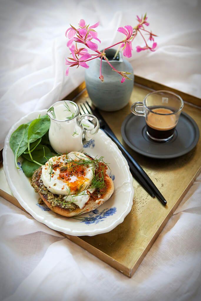 Moje śniadania: Jajka na grzance po turecku