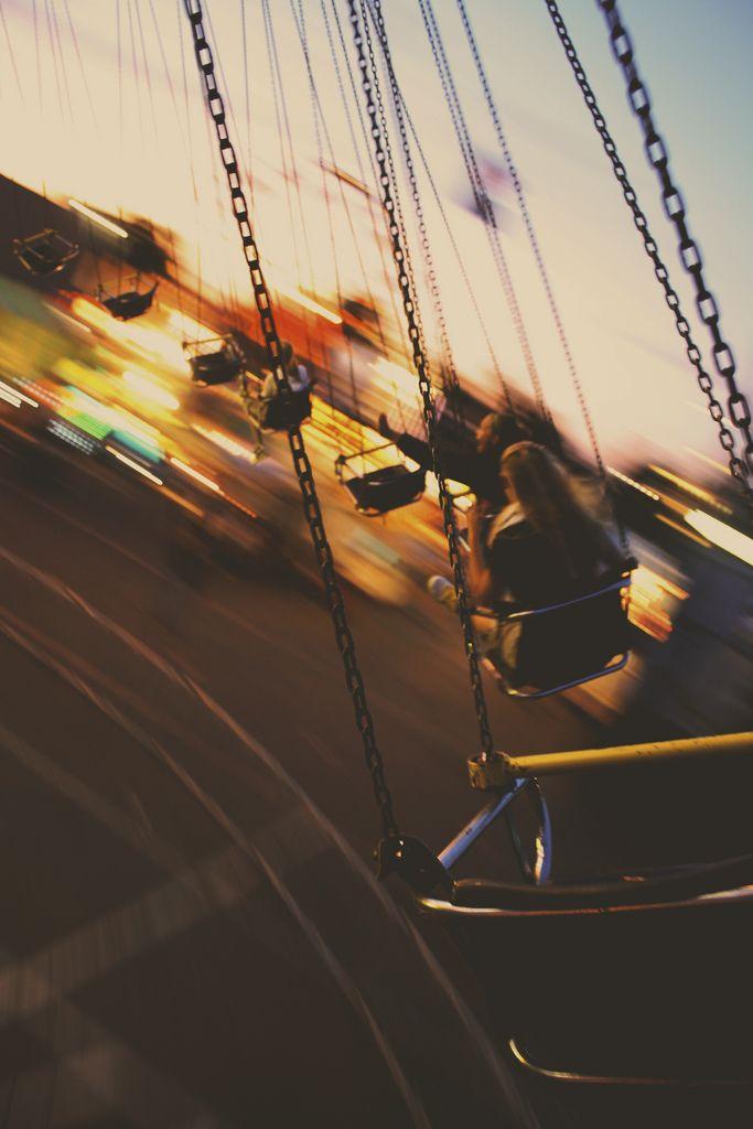 swinging round & round.