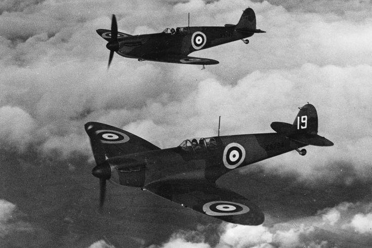 """O Spitfire foi fundamental para a RAF durante a """"Batalha da Inglaterra"""", em 1940 (Domínio Público)"""