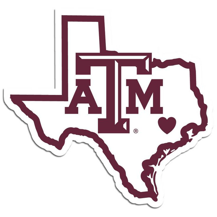 Texas a m aggies home state decal