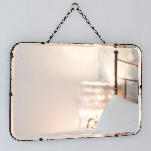 Vintage Rectangular Frameless Mirror from The Other Duckling. These vintage mirrors are a home accessory must have -  at home in both a vintage style home or with contemporary home decor