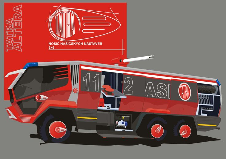 Tatra 853 ALTERA project Fire and resscue truck of the 2020 year