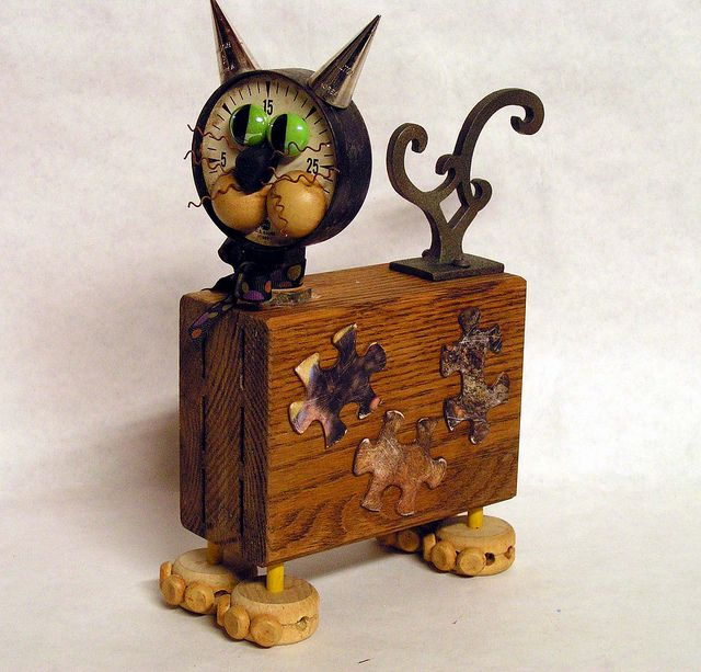 Assemblage Art Cat Toby Tuna Breath | Flickr - Photo Sharing!