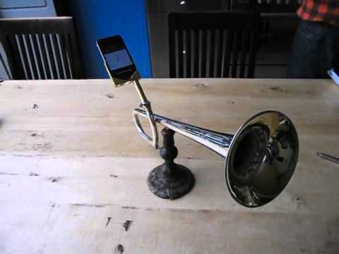 http://green-label.com/sound/dont-waste-money-on-expensive-iphone-speakers-just-get-a-trumpet/    Iphonebooster