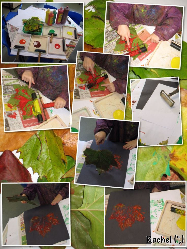 "Printing with Leaves - from Rachel ("",)"