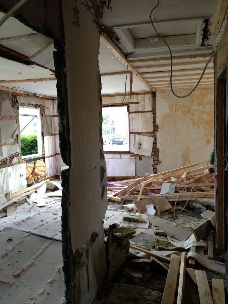 Nedrivning af huset