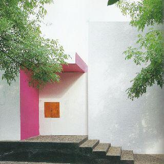 Front facade of Gilardi House, designed by Louis Barragan