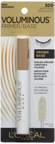 Loreal Voluminous Primer/Base Mascara Amplifier 300 White Primer 0.24 OZ Eye New #Loreal