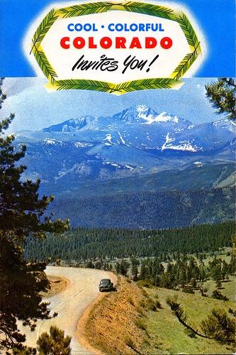 Cool Colorful Colorado Invites You. Vintage Poster. 360Durango.com