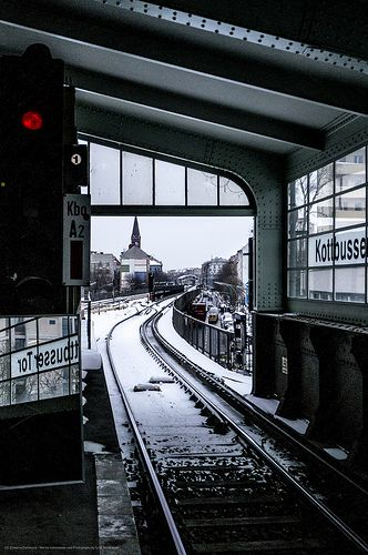 Kotbusser Tor in the snow