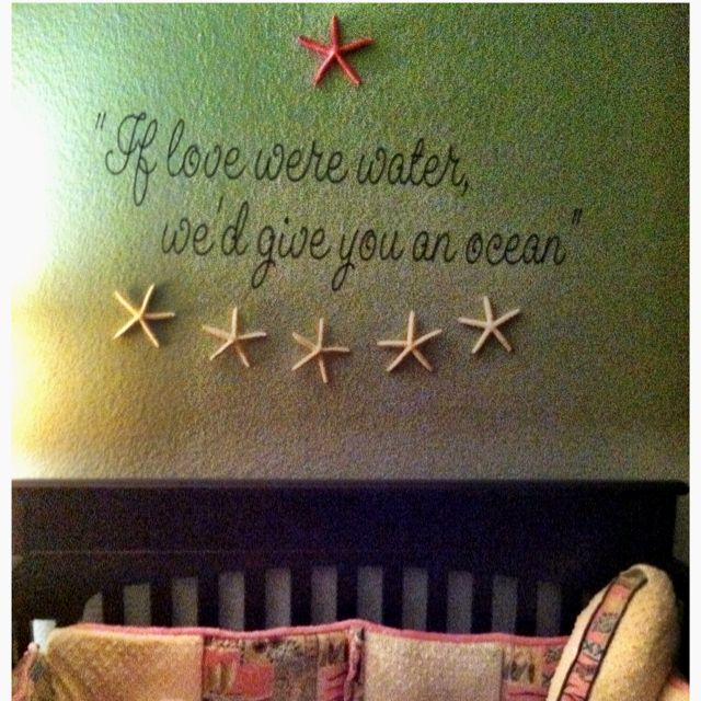 "Our baby girl's room!   ""How Much Do I Love You"" lyrics - Frank Sinatra"