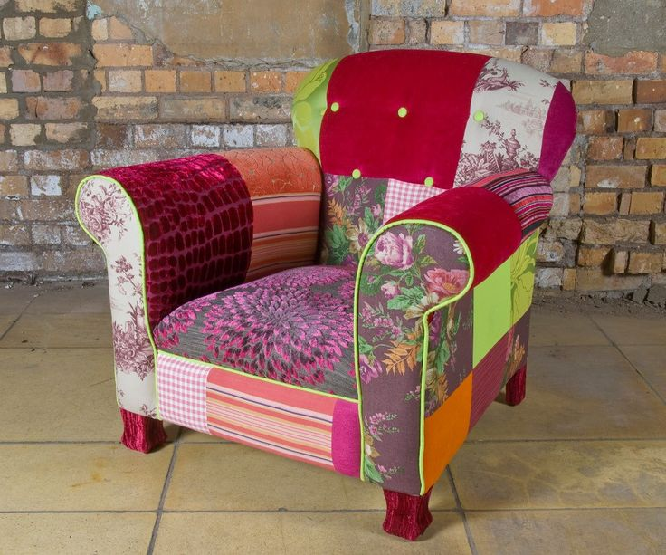 Want! Double want!Decor, Ideas, Inspiration, Colors, Patchwork Chairs, Things, House, Furniture, Patchwork Armchairs