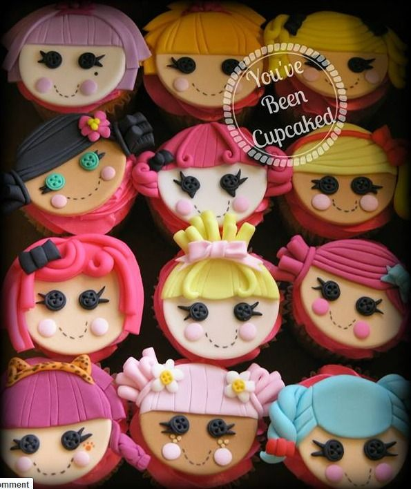 Lalaloopsy cupcake toppers