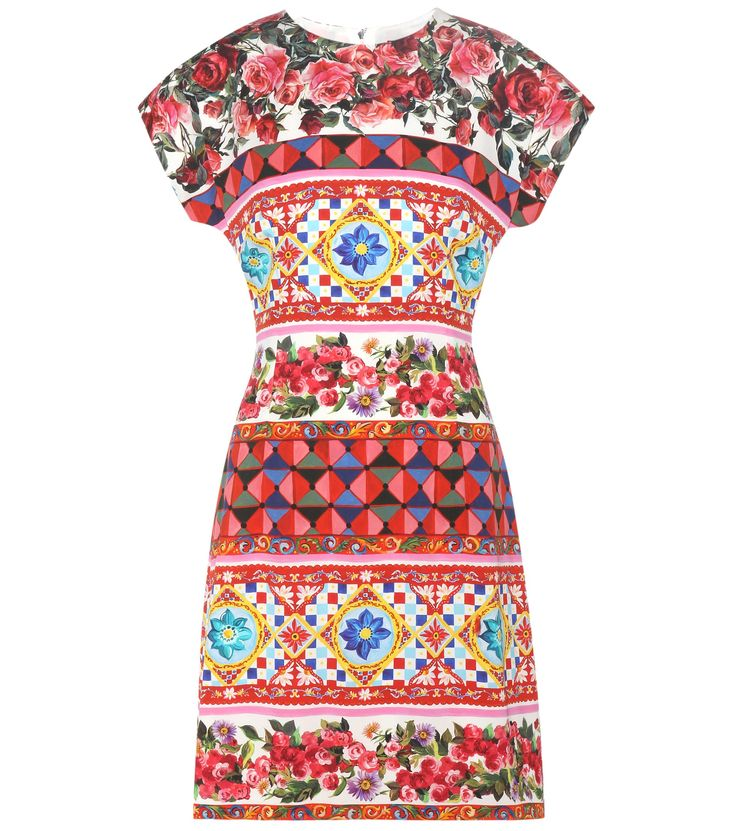 Multicoloured patterned dress