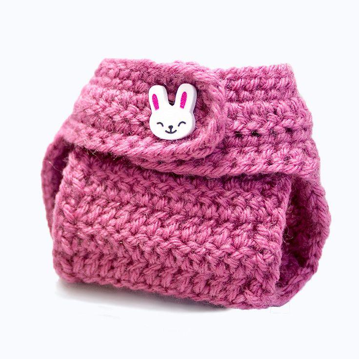 Crochet Girls Bunny Diaper Cover 0-6M: Rose K1010 by KorkeKids on Etsy