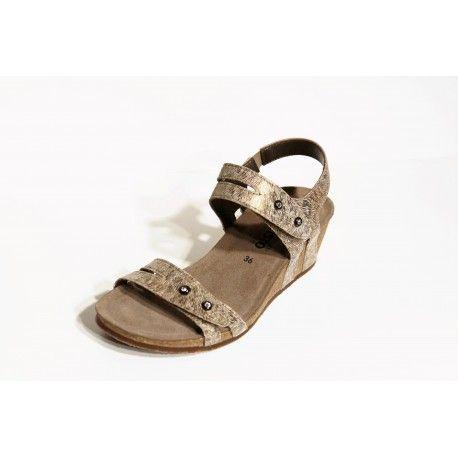 Mephisto sandale compense Minoa camel livraison offert cardel-chaussures.com