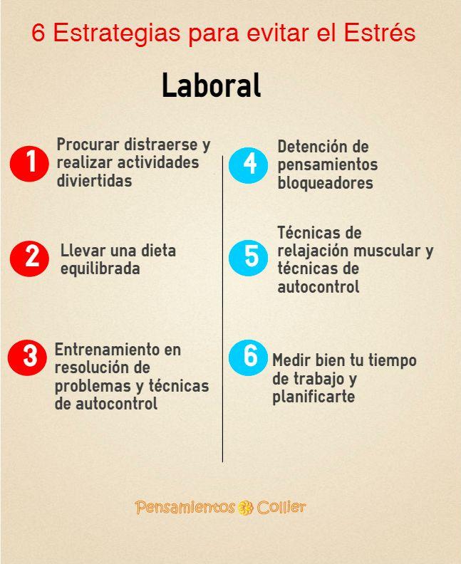 6 Estrategias para evitar el Estrés Laboral | Motivación y ...