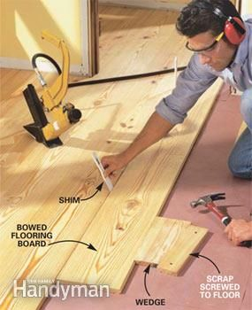 Complete instructions for DIY installation of easy-care wide-plank pine flooring