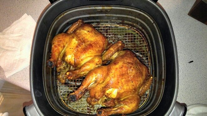 Best Cornish Hens Ever Roasted In Philips Airfryer Here S How I Used Two Small Cornish Hens