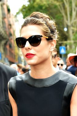 Charlotte Casiraghi looks stunning in black dress