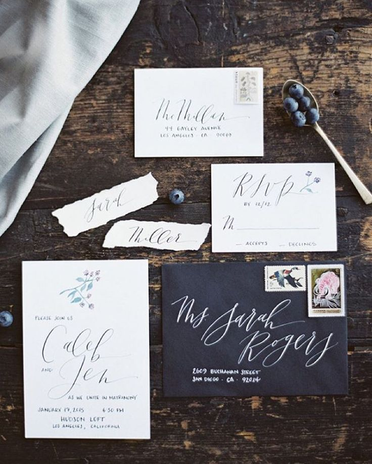 """Nole / Oh So Beautiful Paper on Instagram: """"It's #calligraphy day on OSBP! This month @juliedoan shares the beautiful work of @script_merchant - how gorgeous is this invitation suite?! #dailydoseofpaper"""""""