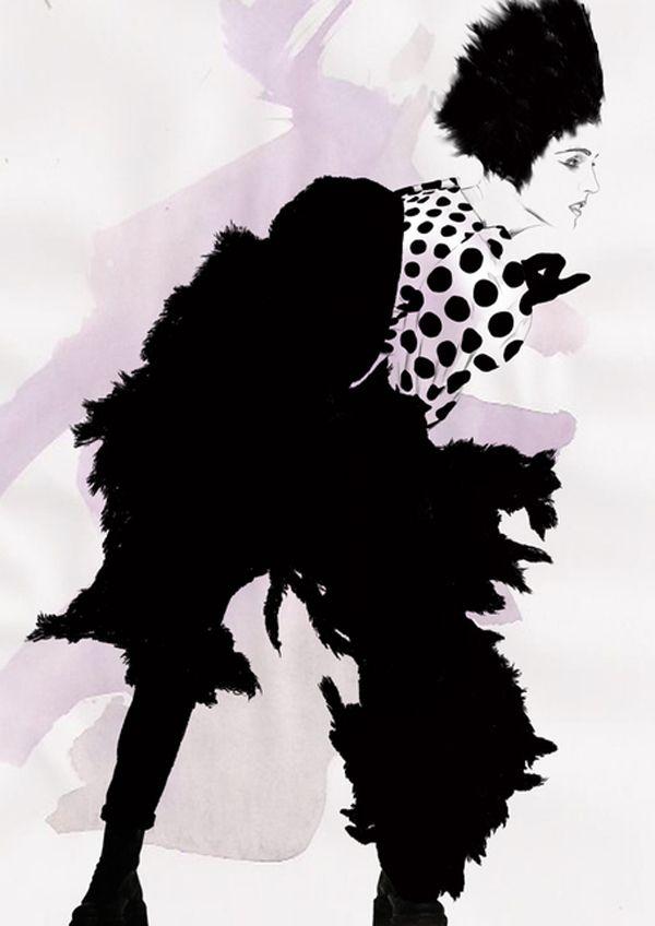Illustration by Spiros Halaris  #fashion #illustration #spiros_halaris