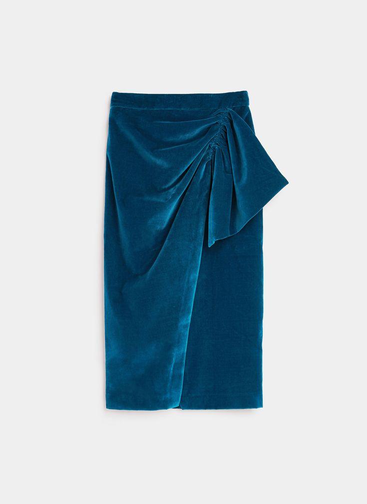 Uterqüe Velvet skirt