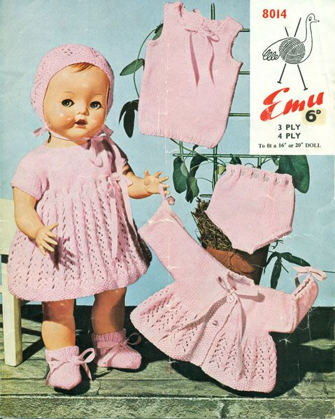 Another darling knitting pattern for doll clothes!