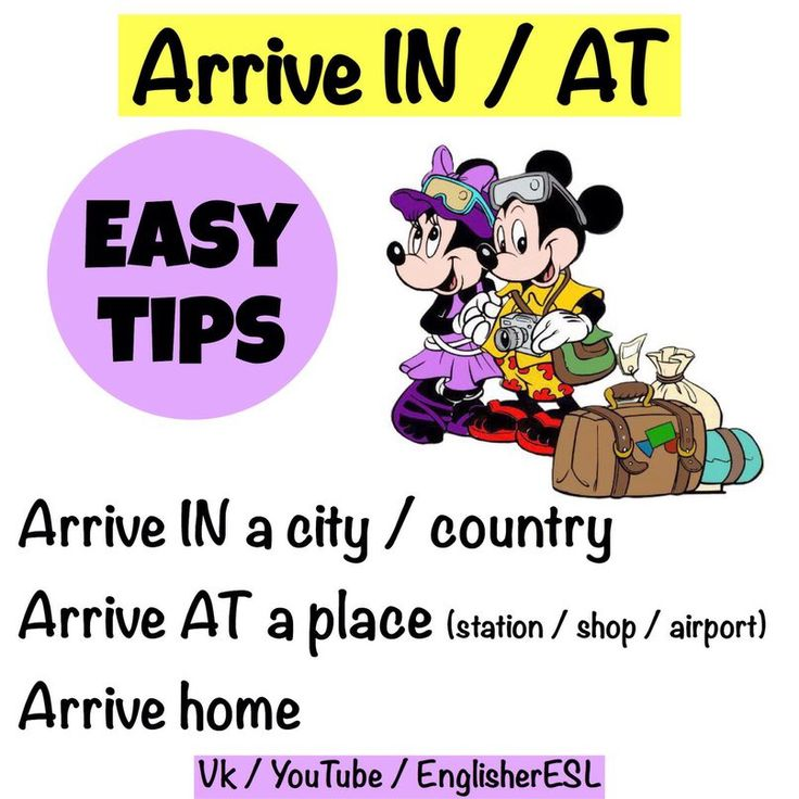 Easy Tips - Arrive IN / AT - Prepositions